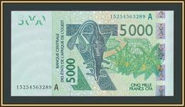 West African States (A - Ivory Coast) 5000 Francs 2015 P-117 (117Ao) UNC - Westafrikanischer Staaten