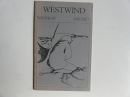 RECUEIL DE POEMES : WESTWIND - Winter 1975 - Poésie