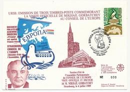 URSS - Visite Officielle De Mikhaël Gorbatchev Au Conseil De L'Europe - 12/6/1989 - 1923-1991 UdSSR