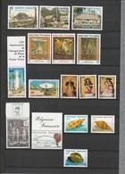Polynésie Française Timbres Poste N°299 à 314 Neuf** - Collections, Lots & Séries