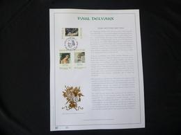 "BELG.1997 2699/2701 FDC Filatelic Gold Card NL.version N°35/500 : "" PAUL DELVEAUX "" - 1991-00"