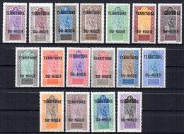 Col17  Colonie Niger  N° 1 à 17 Neuf X MH Cote 25,00 Euros - Neufs