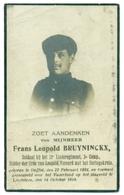 WO1 / WW1 - Doodsprentje Bruyninckx Frans Leopold - Duffel / Lendelede - Gesneuvelde - Décès