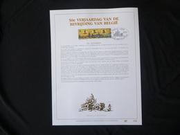 "BELG.1994 2571 FDC Filatelic Gold Card NL.version N° 176/500 : "" 50é VERJAARDAG VD BEVRIJDING VAN BELGIE "" - FDC"