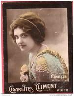 Image Vignette Cigarettes CLIMENT ALGER CASETTE  - Tirage De La Marque Etoile - Climent