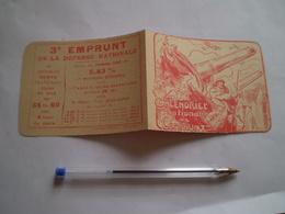 1918, Emprunt De La Défense Nationale à 5.83% , Petit Calendrier Illustrateur Victor Prouvé - 1914-18