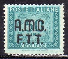 TRIESTE A 1947 1949 AMG-FTT SOPRASTAMPATO D'ITALIA ITALY OVERPRINTED SEGNATASSE TAXES TASSE LIRE 50 MNH - 7. Triest