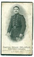 WO1 / WW1 - Doodsprentje Delarue Gaston Désiré - Brussel / Cognelé - Gesneuvelde - Décès