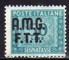 TRIESTE A 1947 1949 VARIETÀ VARIETY AMG-FTT SOPRASTAMPATO D'ITALIA ITALY OVERPRINTED SEGNATASSE TAXES TASSE LIRE 50 MNH - 7. Triest