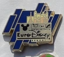 X84 Pin's FRANCE TELECOM EURODISNEY Tour Eiffel Paris Signé Disney Qualité Arthus Achat Immédiat - France Telecom