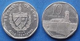"CUBA - 10 Centavos 1996 ""Castillo De La Fuerza"" KM# 576.2 Second Republic (1962) - Edelweiss Coins - Kuba"
