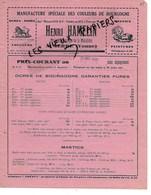 89 - Yonne - AUXERRE - Facture HAMELIN - Manufacture De Couleurs De Bourgogne - 1931 - REF 150B - 1900 – 1949