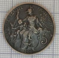 5 Centimes, 3 Ième République. 1900. - France
