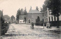 CPA   BELGIQUE---LIEGE---HOLLOGNE-SUR-GEER--FORET DU TRAM---CAFE DE LA STATION---ANIMEE---TRES RARE  ?---1918 - België