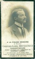 WO1 / WW1 - Doodsprentje Bruggeman Constant Louis - Brussel / Rotselaar - Gesneuvelde - Décès