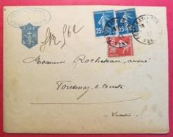 Vendée-Enveloppe De Fontenay Le Comte - Marcophilie (Lettres)
