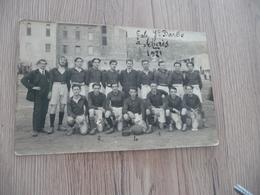 Carte Photo  30 Gard Alès Alais Ecole Sainte Barbe 1921 équipe De Rugby - Alès