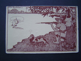 CARTE POSTALE Ancienne 1952 : HUMOUR / CHASSE EN AFRIQUE / VAS CHERCHER ! - Illustrateur BOIRAU - Humour