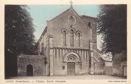 CPA 79 Deux-Sèvres Louin L'Eglise Entrée Principale - Altri Comuni