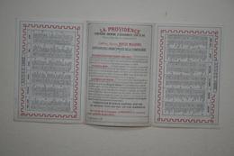 Calendrier - La Providence  Paris  - 1882 ( 3 Volets ) - Kalender