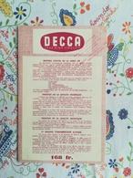 Leaflet Decca True High Fidelity 24 Disques D'Opéras - Other