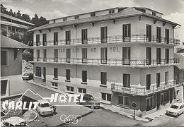 X120117 PYRENEES ORIENTALES FONT ROMEU CARLIT HOTEL EN ETE CITROEN 2 CV SIMCA 1000 - Francia