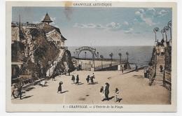 GRANVILLE - N° 1 - L' ENTREE DE LA PLAGE AVEC PERSONNAGES - CPA COULEUR NON VOYAGEE - Granville