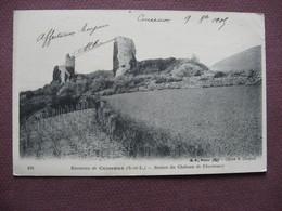 CPA 71 Environs De CUISEAUX Ruines Du Chateau De Chevreaux 1905 - France