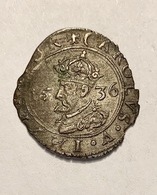 SUPERBE CAROLUS TYPE 5 : A L' écu Orné 1636 PHILIPPE V RARE EN L'ETAT - 476-1789 Feodale Periode