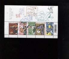 Belgie BL148 3710/14 Type Writers Machines à Ecrire Plaatnummer 1 Numero De Planche MNH - Blocks & Sheetlets 1962-....