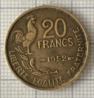 20 Francs, 1952, France, 4 Ième République - L. 20 Franchi
