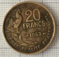 20 Francs, 1953, France, 4 Ième République - L. 20 Francs