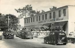 85 - LA GRIERE - La Tranche Sur Mer - Carte Photo De L'Hotel De La Mer 1959 - Auto Citroen Renault VOLKSWAGEN Coccinelle - La Tranche Sur Mer