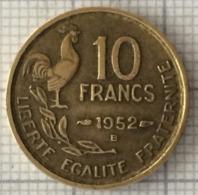 10 Francs, 1952 B, France, 4 Ième République - K. 10 Franchi