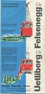 Schweiz - Uetliberg - Felsenegg - Fahrplan 1963 - Faltblatt - Europe