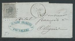 Brief Met Nr 17 Puntstempel Silly 334 En Cirkelstempel - 1865-1866 Profile Left