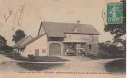 20 / 5 / 45. - VÉZELOIS, ENV. DE BELFORT  ( 90 ) EMBRANCHEMENT  DES  ROUTES  DE  NORVILLARS  &  ESCHÈNES  - CPA - Belfort – Le Lion