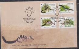 WWF - VIETNAM -  2005 - CIVET CAT  SET OF 4 ON  ILLUSTRATED FIRST DAY COVER - FDC