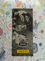 Catalogue Decca Variétés Katalogus - Música & Instrumentos