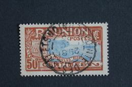 REUNION 1907 RADE DE SAINT DENIS Y&T NO67 50C BRUN-ROUGE ET BLEU OBLI TB... - Reunion Island (1852-1975)
