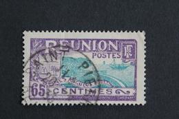 REUNION 1928, RADE DE ST-DENIS Y&T NO 112  65C VIOLET ET BLEU-VERT OBLI TB... - Reunion Island (1852-1975)