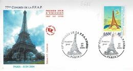 TP N° 3685 Seul Sur Enveloppe 1er Jour Du Congrès De La FFAP De Paris - 1961-....
