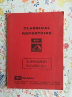 Catalogue EMI Belgium Classical Repertoire Supplément 1974 - Música & Instrumentos