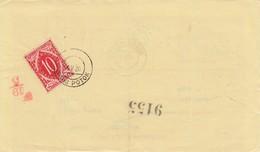 Slovenia SHS 1920 Postal Money Order With SHS Slovenia Postage Due (Porto) Stamp, Postmark LOŠKI POTOK - Slovenia