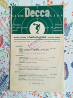 Guide Decca Gids 1953/1954 - Other