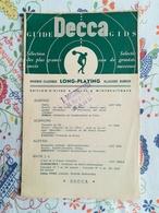 Guide Decca Gids 1953/1954 - Música & Instrumentos