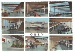 CPSM 94 PARIS ORLY Aéroport Aérogare Multivues Avion TWA Airport 1959 ? - Aeródromos