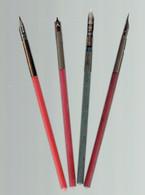Lot De 4 Anciens Porte-plumes Avec Plumes Baignol & Farjon - Pens