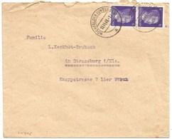 Sk975 - HOCHFELDEN (UNTERELS) - 1941 -Tarif 12 Pfennig - - Alsace Lorraine