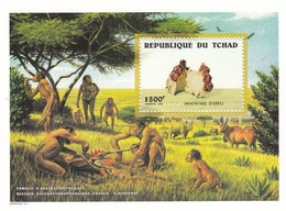 Tchad BF 1998 MNH Australopitèques - Tchad (1960-...)